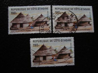 COTE D IVOIRE - timbre yvert/tellier n° 785 x3 obl (A28) stamp (A)