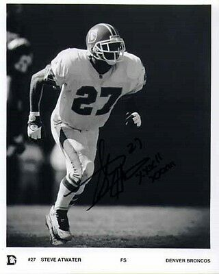 Steve Atwater - Broncos - Signed Photo - COA (10695)