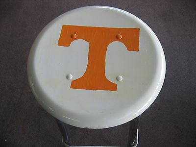 """UNIQUE HAND PAINTED UNIV. OF TENNESSEE - METAL BAR STOOL- 15lbs - 30""""x13""""x13"""""""