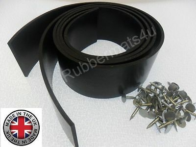 2 x GARAGE DOOR Reinforced Rubber Weather Draught Excluder SIDE SEALS & Fixings