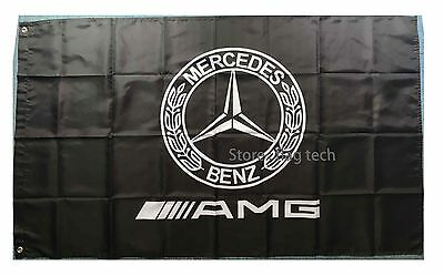 Mercedes Benz AMG Flag  racing AMG car banner flags 3X5 Ft - free shipping