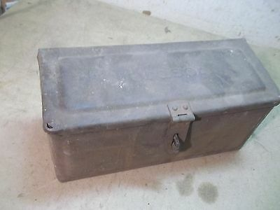 Old Steel Farm Tractor Toolbox Embossed Fordson