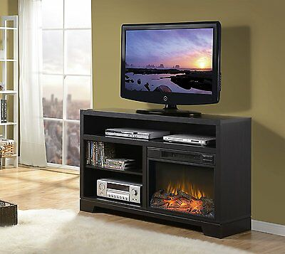 Vancouver Black Oak Electric Media Fireplace Console - NO TAX!!