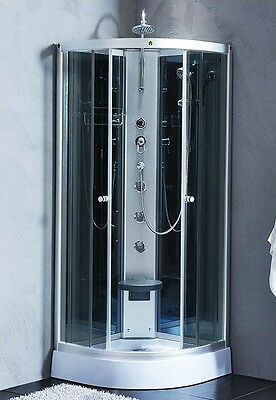 800x800mm Tinted Modern Quadrant Shower Room Cubicle Enclosure Cabin 80x80cm