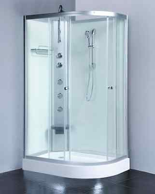1200x800mm White Modern Quadrant Shower Room Cubicle Enclosure Cabin-Left Corner