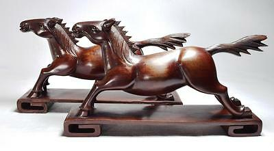 Antique Chinese Wooden Horses, C.1910s/20s