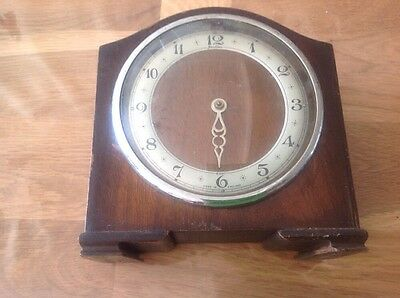 Vintage Bentime 8 Day Clock For Restoration Repair Approx 6x6.5""