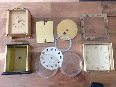 Vintage Clock Parts For Restoration Faces Cases Round And Square Glass