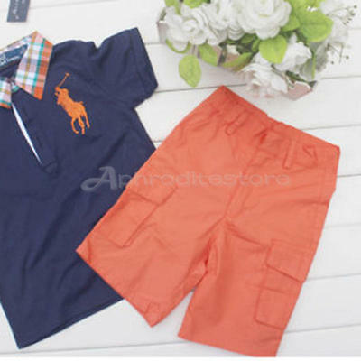 2PCS Baby Boys T-Shirt +Short Pants Sets Kids Summer Casual Clothes Outfits