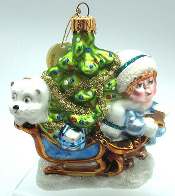 Kaleidoscope Kollection Hanging Christmas Ornament A Special Delivery Hand Made