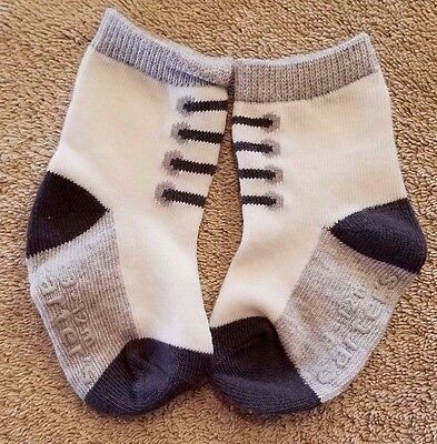 Nwot! Carter's Cute Baby Boy 3-12 Month Gray Lace Socks Adorable