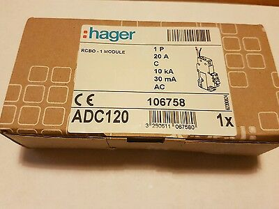 Hager C20 Rcbo ADC120