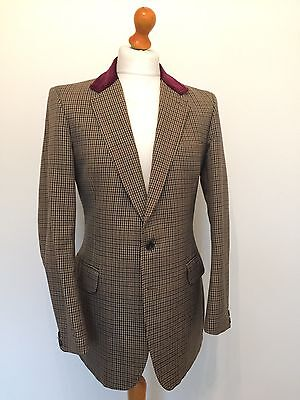 1970's Tweed Jacket With Velvet Collar Size 40 Long