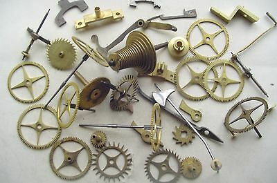 Clock Wheels cogs ans parts etc for longcase fusee and other clocks