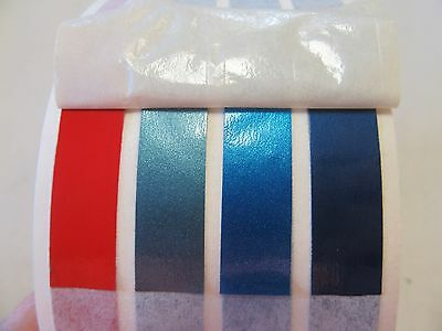 "Pinstripe Decal Tape 3 Blues / Red 2 3/4"" X 150' Marine Boat"