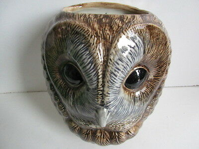 Fabulous Large Tawny Owl Wall Vase/ Plant Pot By Quail Ceramics Boxed Ideal Gift