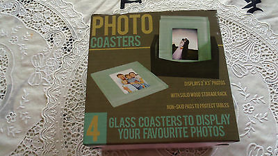 Missionary Auction Brand New Boxed 4 Glass Photo Coasters