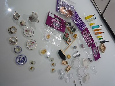 Dolls House Miniature 1:12th Large Mixed Lot of Kitchen Items