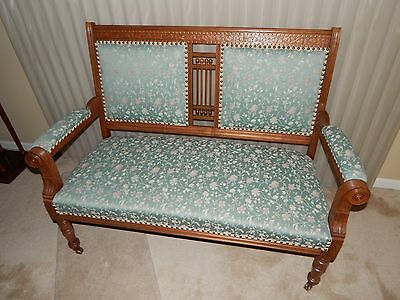 Antique Victorian Parlor Settee
