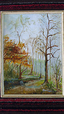 Missionary Auction Framed Simplistic  Signed Oil On Board