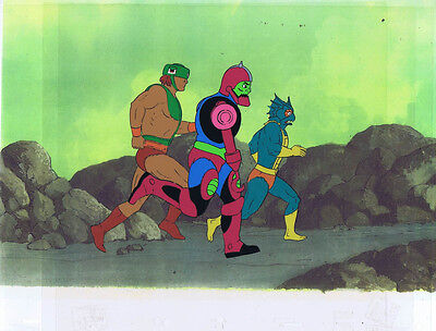 He-Man Masters of the Universe Production Animation Cel & Copy Bkgd A12600
