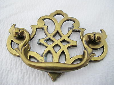 "Vintage Brass Chippendale Batwing Cabinet Drawer Pull 3"" Center"