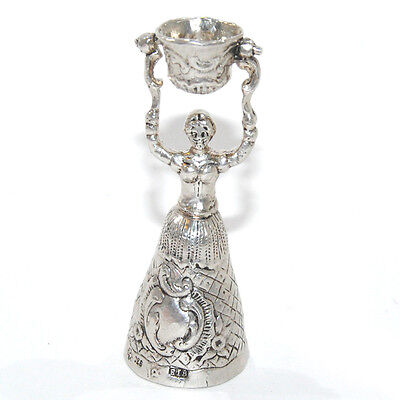"Beautiful silver bell ""Girl with a bucket"""