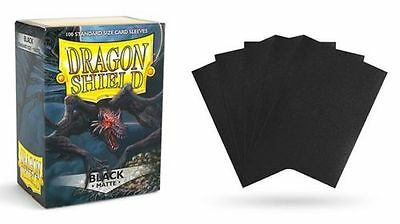 NEW! Dragon Shield 100 Standard Card Protector Sleeves Matte Black AT 11002 Best