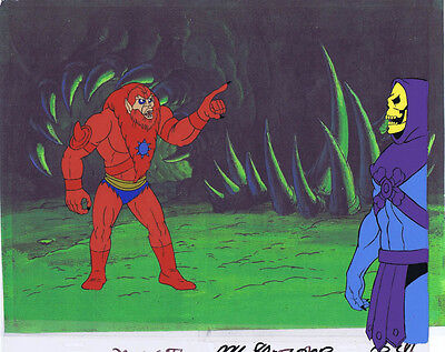 He-Man Masters of the Universe Original Animation Cel & Copy Bkgd #A13066