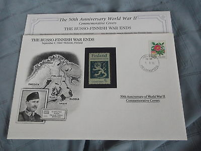 Wwii 50Th Anniv Commemorative First Day Cover Russo Finnish War Ends 1944