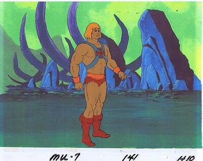 He-Man Masters of the Universe Original Animation Cel & Copy Bkgd #A13101
