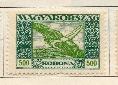 Hungary 1924 Early Issue Fine Mint Hinged 500k. 108864
