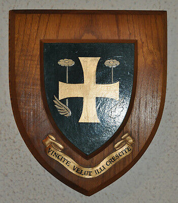 Vintage St Helen's School wall plaque shield crest coat of arms