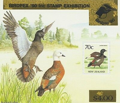 Neuseeland New Zealand - 1990 Block 19 Überdruck Birdpex  Vögel Birds **