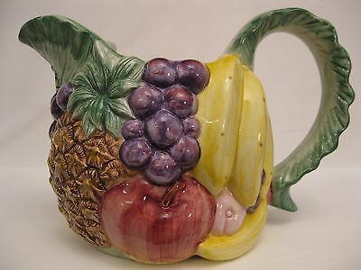 Fitz and Floyd 1988 1 1/2 QT calypso Fruit Pitcher