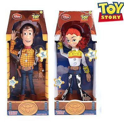 "NEW LATEST Toy Story 3 Pull String WOODY JESSIE 15"" Talking Action Figure Doll"