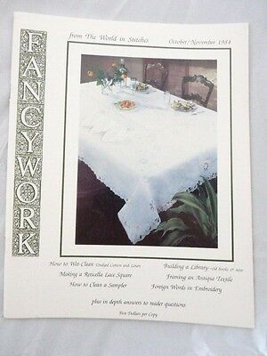 Fancywork Magazine from the World in Stitches October November 1984 30 Pages