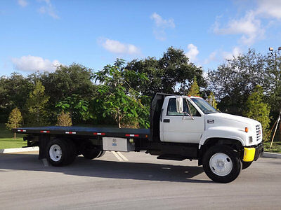 2000 GMC C7500 20ft Flatbed 1 Owner FL Truck C7 Caterpillar Automatic Air Brakes