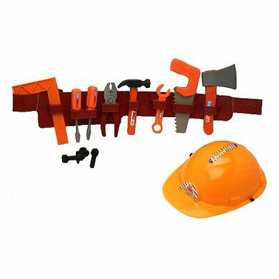 Sports Toys Play Tool Belt With Tools And Construction Helmet Set 14 pieces