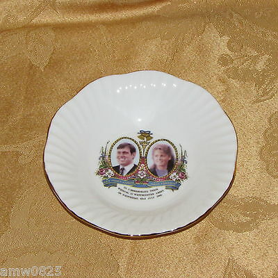 Royal Wedding 1986 Prince Andrew Sarah Ferguson Bone China Trinket Dish England