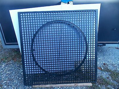 "Vintage large cast iron floor grate 40"" x 41"""