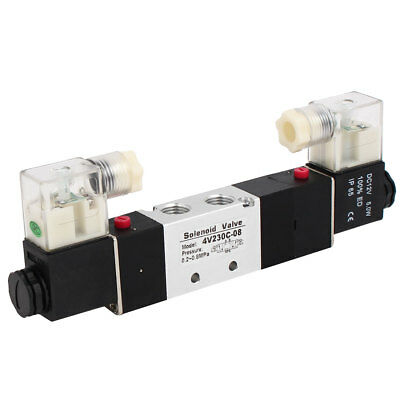 DC 12V 3 Position 5 Way Neutral Electric Solenoid Air Control Valve 4V230C-08