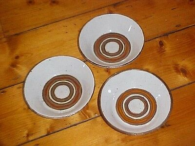 4 x STONEHENGE MIDWINTER EARTH BOWLS MADE IN ENGLAND STONEWARE