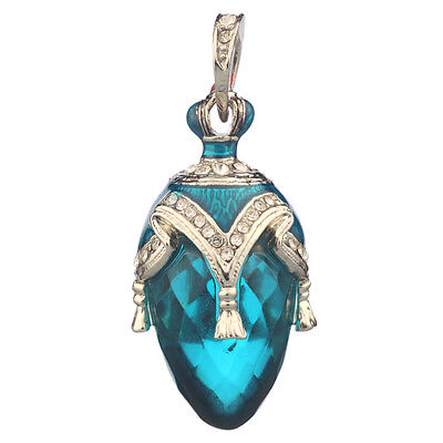 Faberge Egg Pendant / Charm with crystals 3.8 cm #PC-0587-3