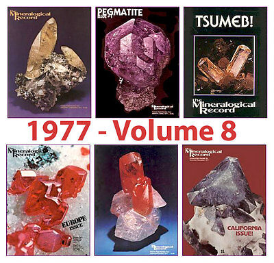 Mineralogical Record 1977 Volume EIGHT  (Number ONE thru SIX) - Pristine