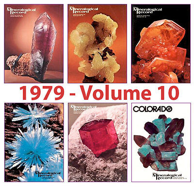 Mineralogical Record 1979 Volume TEN  (Number ONE thru SIX) - Pristine