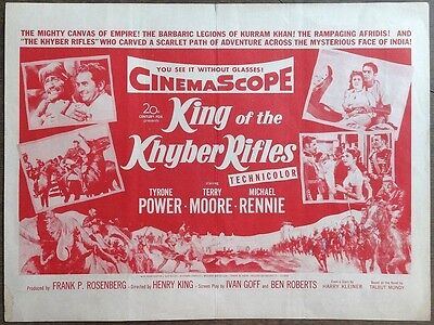 KING OF THE KHYBER RIFLES 1953 Tyrone Power, Terry Moore, Michael Rennie herald