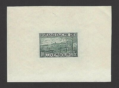 Luxembourg Scott #151 1923 10Fr imperforate proof ex Jim Czyl