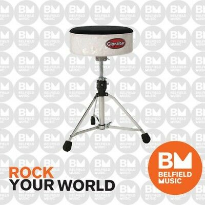 Gibraltar 9708-SFT-WP Drum Throne Stool White Pearl Softy GI9708SFTWP