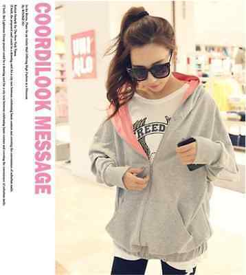 New fashion casual large size women Long cardigan Hooded Sweater loose coat 14